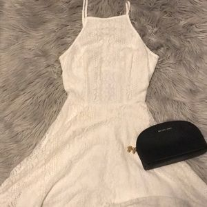 Hollister White Crochet Dress